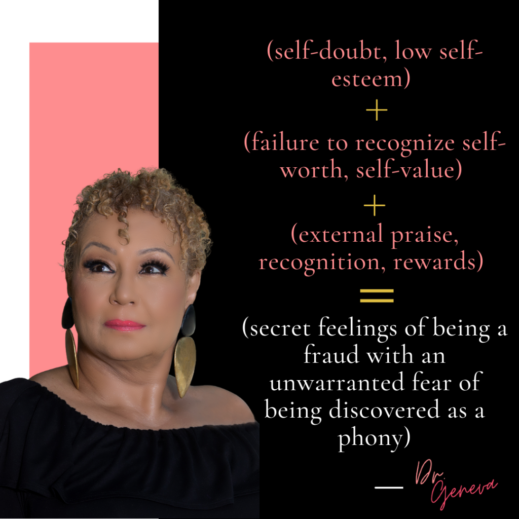 self-doubt-low-self-esteem-failure-to-recognize-self-worth-self-value-external-praise-recognition-rewards-secret-feelings-of-being-a-fraud-with-an-unwarranted-fear-of-being-discovered-dr-geneva-williams